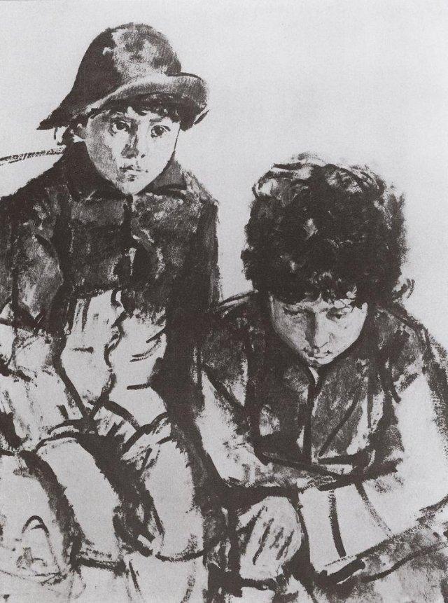 Дети Серова. Юра и Саша. 1902-1904