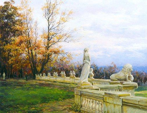 Мария Вишняк. Осень в Архангельском. Холст, масло. 2000г.