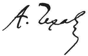 Подпись Антона Чехова