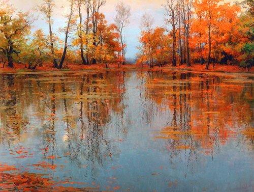 Мария Вишняк. Осенний парк. Холст, масло, 2004г.
