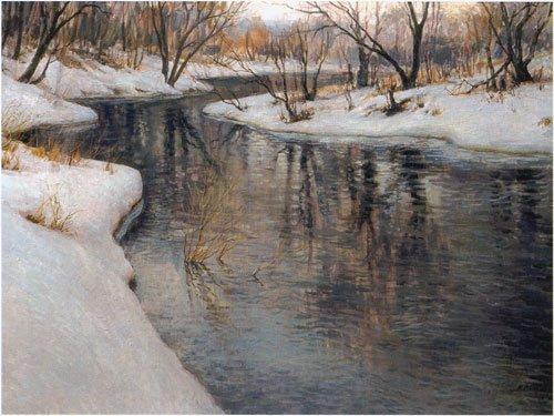 Мария Вишняк. Студёная вода. Холст, масло. 2004г.
