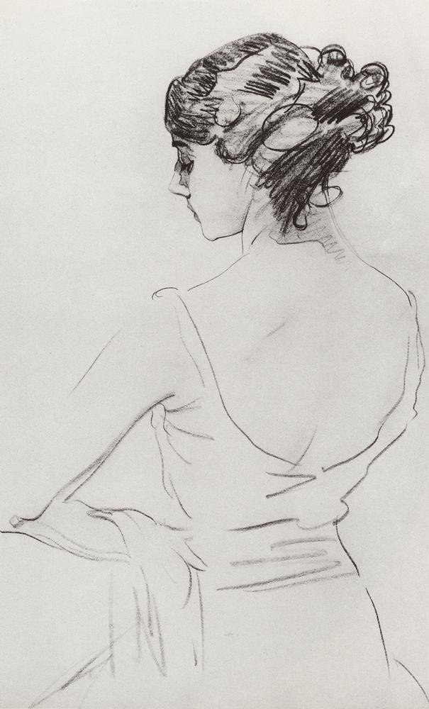 Портрет балерины Т.П.Карсавиной. 1909
